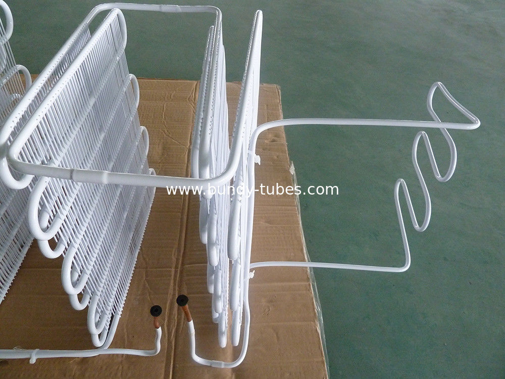 Low Carbon Wire Bundy Tube Cooler Evaporator On Cold Room Refrigerator