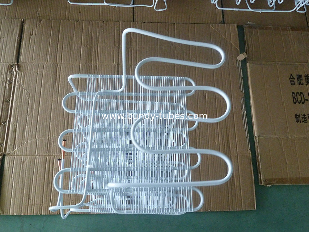 Wire Bundy Tube Evaporator For Freezer , White Painting High Efficiency Anticorrosion