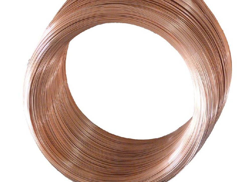 Cold Drawing Single Wall Coated Copper Steel Bundy Tube To Protect Rust  4.76 mm  X 0.7 mm