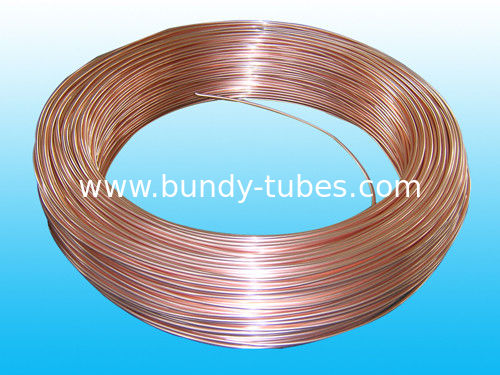 Copper Coated Double Wall Bundy Tube 6 * 0.7 mm For Freezer