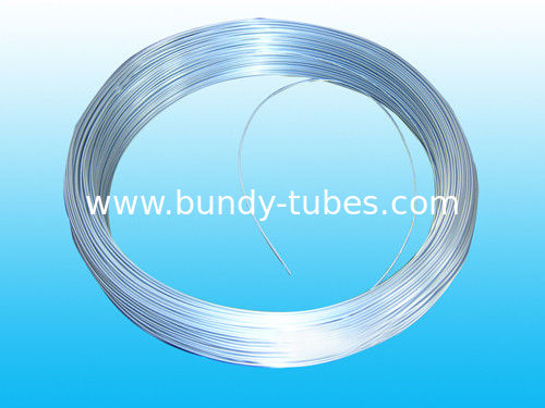 Galvanized Bundy Pipe / Welded Steel Tube For Freezer 6.35 * 0.5 mm
