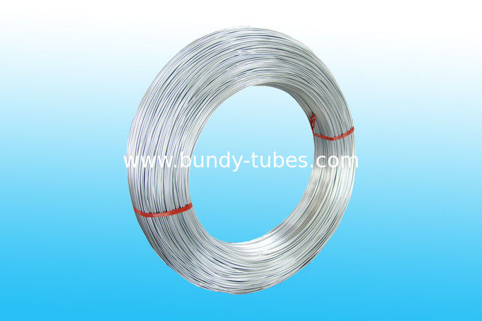 ZINC Coated Bundy Pipe , Low Carbon Steel Strip 6.35 * 0.6 mm