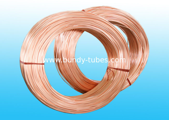Single Wall Copper Coated Bundy Tube For Refrigerator