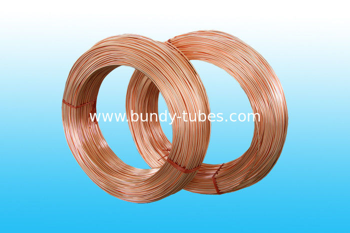 Copper Coated Low Carbon Single Wall Welded Freezer Tubes 6 * 0.6 mm